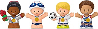 Fisher-Price Little People Collector Team USA Juego de figuras clásicas, 4 figuras de atleta en un paquete de regalo para deportes de entre 1 y 101 años