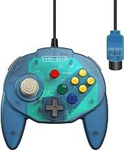 Retro-Bit Tribute 64 Wired N64 Controller for Nintendo 64 - Original Port - (Ocean Blue)