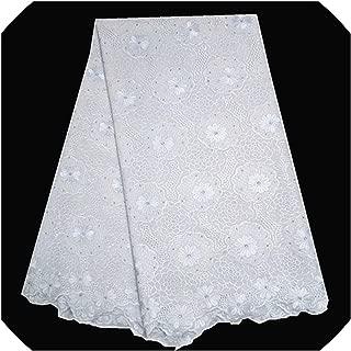 TT Lemon Lace Fabric White and Blue Wholesale African Voile Lace Cotton Swiss Cotton Voile Lace for Women Dress,Pl1401008S202