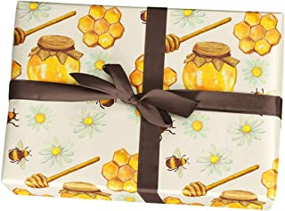 Bumble Bee Birthday Wrapping Paper Gift Sheets, 10 Pack of 11x17 inch Sheets, Handmade from Texas