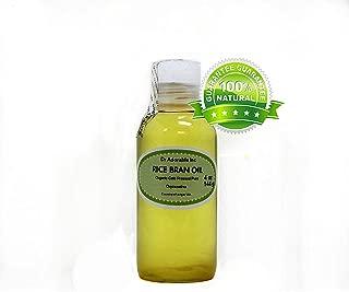 Rice Bran OIL Organic 100% Pure Cold Pressed 4 Oz