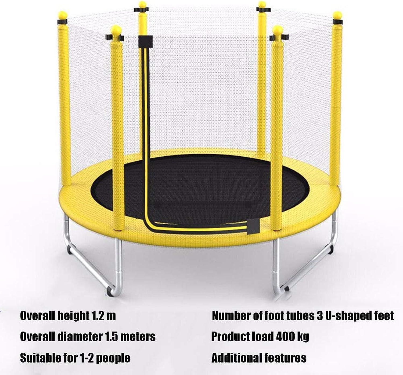 HXZZP Trampolin,Gartentrampolin Kindertrampolin Fitness Indoor- Outdoor Mit Sicherheitsnetz 1.5 m Sprungmatte Maximale Belastung 250 kg