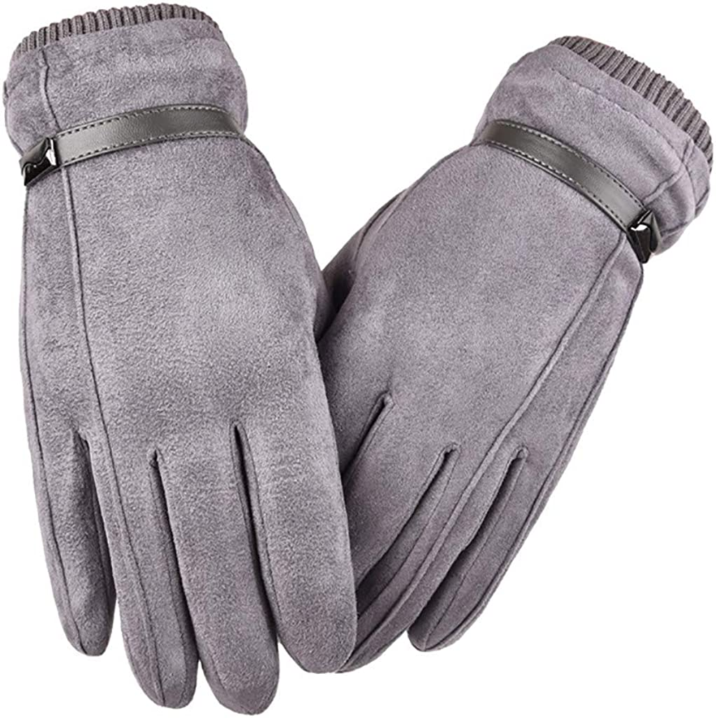 GREFER Winter Gloves, Men Cold Weather Cycling Warm Gloves Touchscreen Gloves Mittens
