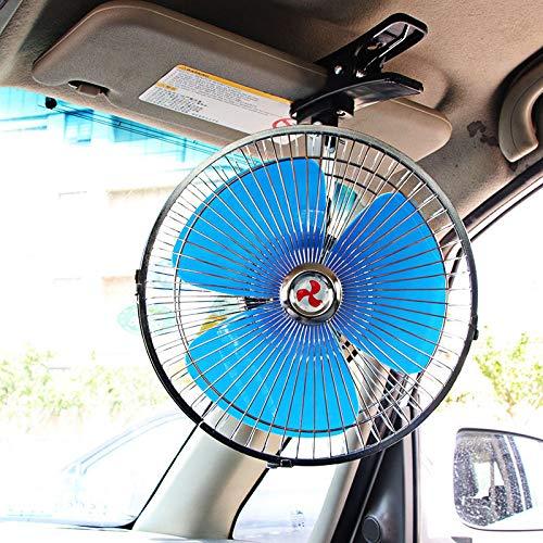 HJJH Auto-Clip Ventilator, 24V 2 Geschwindigkeit Ventilatoren für Gewerbe Metal Fan für Lager, Gewächshäuser, Werkstatt, Innenhof, Fabrik und Keller, Kühlkraftfahrzeug Quiet Ventilation