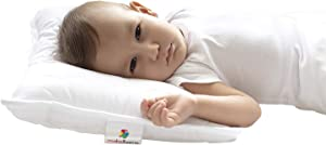 Mabel Home Kids Baby Toddler Pillow with Zipper Washable Pillowcase , White,14