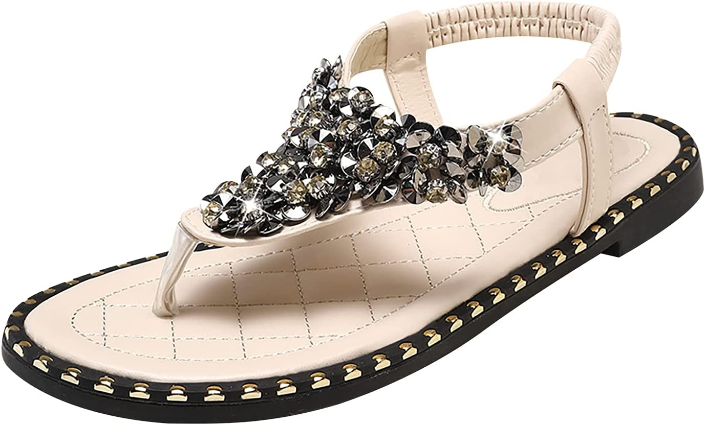 Latest item Ranking integrated 1st place XUELIXIANG Flat Sandals with Rhinestones for Women Summer B