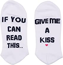 CHUN IF YOU CAN READ THIS FUNNY SAYING Low Cut Socks WINE COFFEE GIVE ME A KISS Fuck Off Socks Unisex Casual One Size Socks