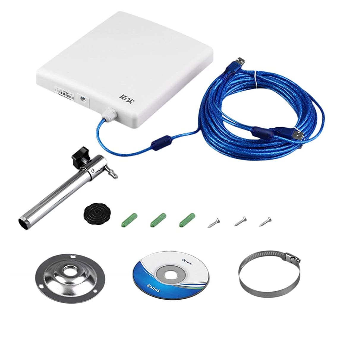 無駄迷路勇敢なTivollyff 無線LAN 子機 Wi-Fi USB N910スーパーハイパワーのUSBワイヤレスネットワークカードレシーバー150MbpsのIEEE 802.11b / gの/nの無線LAN規格レシーバーホワイト 白