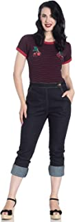 Charlie Denim Jeans 50s Vintage Retro Capri Trousers 3/4 Pedal Pushers