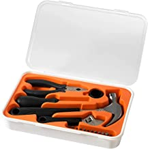 5 Pieces Hand Tool Kit for Home DIY & Professional Use, Orange/White Tool Accessories with Excellent Quality Tools