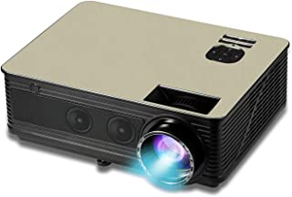 5000 Lumen Digital Native 1080P Home & Outdoor Multimedia LED Projector LCD LED Portable HDMI USB VGA 1080P Indoor Outdoor...