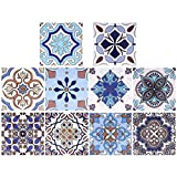 TAECOOOL 10 pegatinas para azulejos de cocina, estilo retro, para azulejos de cristal grueso, a prueba de aceite, para decoración 3D (Multi-20-4)