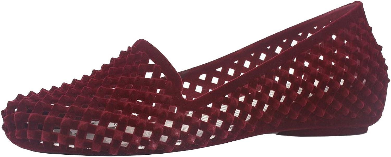 pinkgirl Women's Velvet Spike Latticed Flat shoes Black