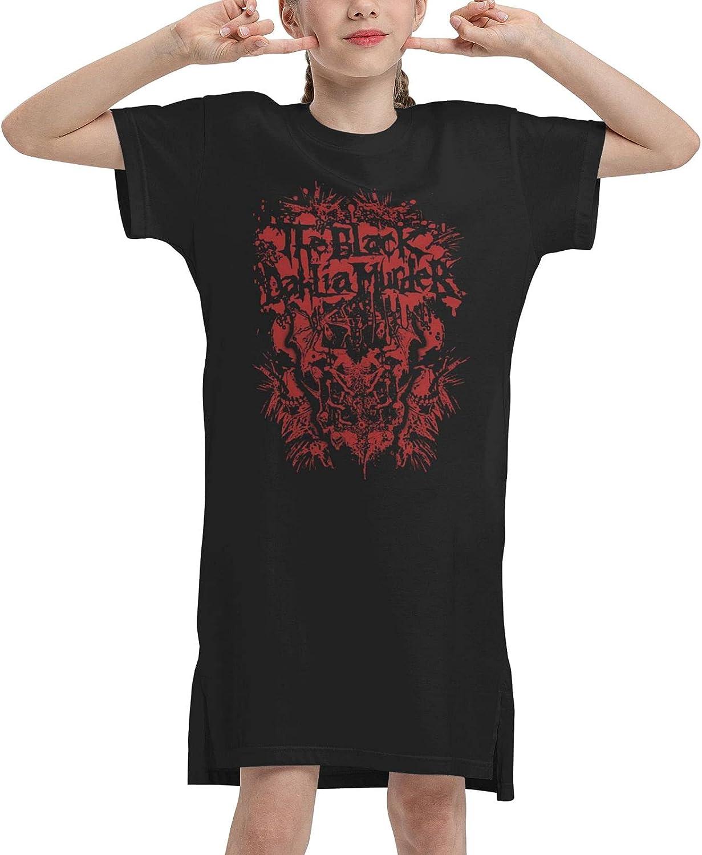 The Black Dahlia Murders Dress Girl's Cotton Short Sleeve Dress Crew Neck Dresses