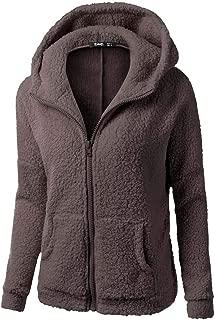 Women Coat Thicken Soft Fleece Winter Autumn Warm Jacket Hooded Zipper Overcoat Outwear Coat