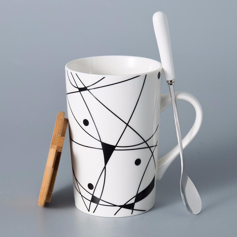 exclusivo WU-Mug Tazas de cerámica Creativa, Creativa, Creativa, Minimalistas Amantes tazón de Agua Gran Jarra con Tapa Boca Taza de café Personalizada Beber la Copa de té 3  hasta un 60% de descuento