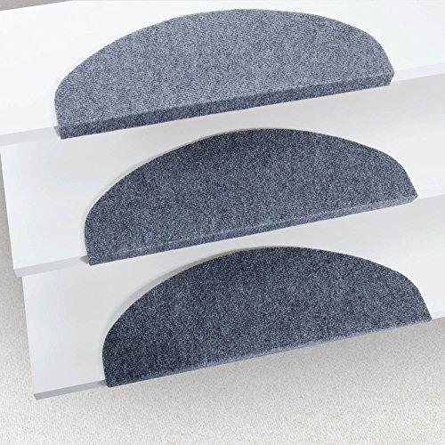 Floordirekt Stufenmatten Leipzig | selbstklebend & zuschneidbar | 5 Farben (Grau)