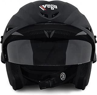 Vega Crusier Dull Black Men's Full Face Helmet