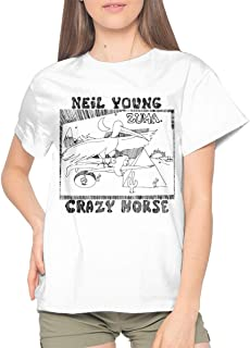 Neil Young Crazy Horse Zuma Relaxed and Comfortable Woman's Short Sleeve T-Shirt