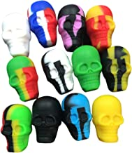 Gentcy 3pcs Skull Silicone Container Wax Silicone Jar +Container Holder (1)