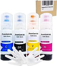 seogolar Refilled Set of 4 T502 Ink Bottle Replacements for Epson ET-2750, ET-3750, ET-4750, ET-2700, ET-3700