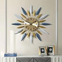 Wall Clock - Metal/Personality/Home/Clock, Retro Fashion Wall Clock Living Room Bedroom Creative Mute Clock Wall Clock Tre...