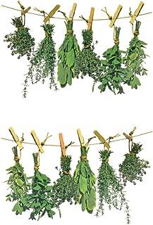EAST-WEST Trading Fenstersticker Kräuter, Herbs, Fensterbil
