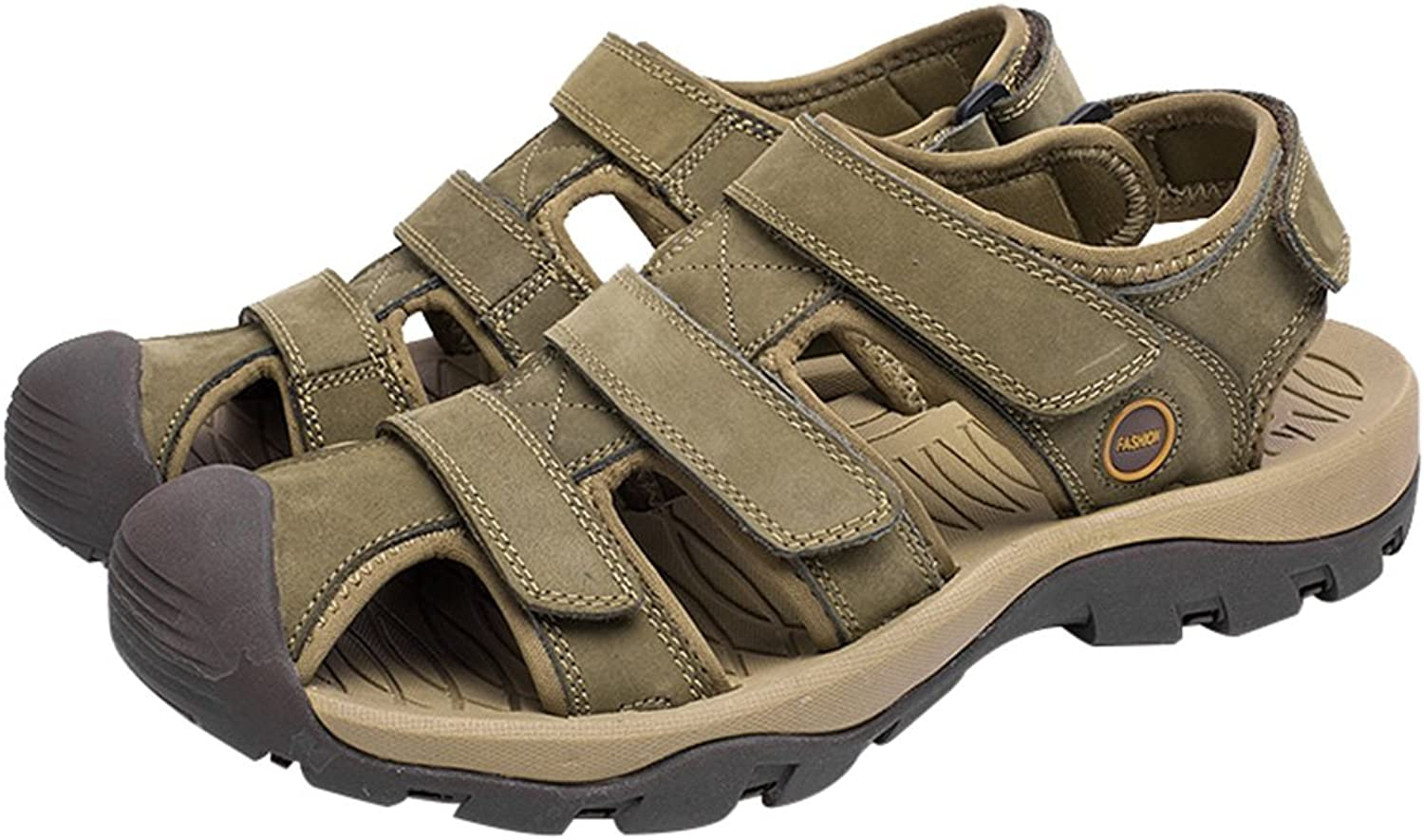 Hevego Zandalias Closed Toe Fisherman Leather Beach Hiking Sandals for Women
