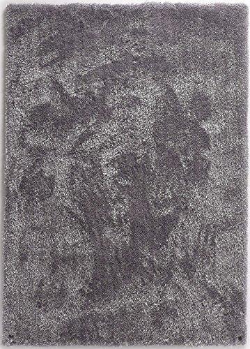 TOM TAILOR THEKO Moderner Handgetufteter Designer Teppich Farbe Grau Größe auswählen 50 x 80 cm