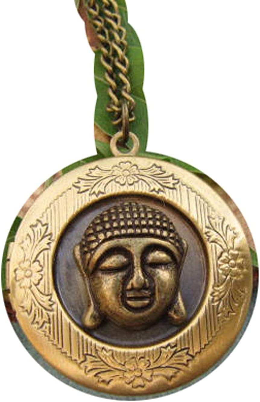 2Pcs Bronze Buddha locket necklace,buddha locket pendant,buddha head locket,buddha jewelry,yoga,zen
