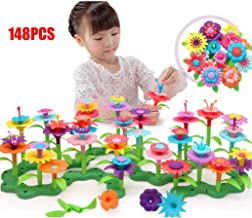 LVEA Build-a-Bouquet Floral Arrangement Playset - BPA Free, Phthalates Free, Creative Play Toys for Gross Motors, Fine Motor Skill Development. Toys and Games (148PCS)