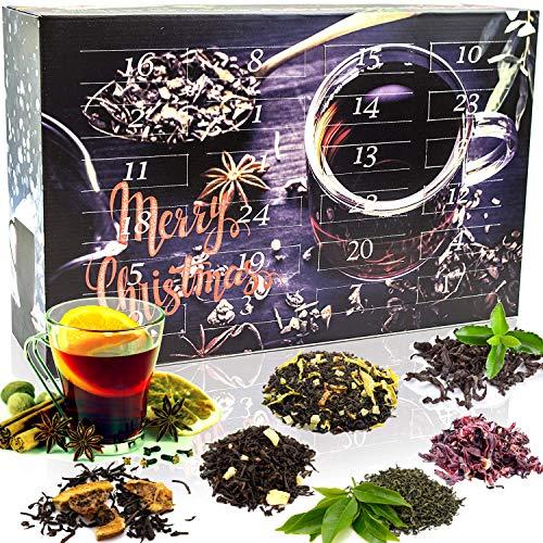 C&T Tee-Adventskalender 2020 mit 24 losen Schwarztees - edle Tee-Sorten à 20 g für je 4 Tassen (1 Kanne) in dekorativem Kalender - Schwarzer Tee