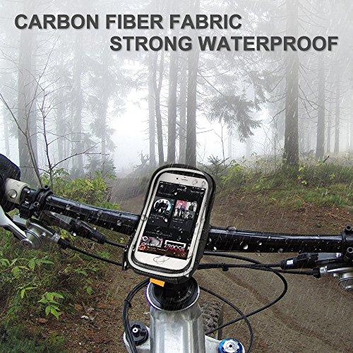 Furado Rahmentaschen, Fahrradtaschen Fahrrad Rahmentaschen für Smartphone bis zu 6 Zoll, Wasserabweisende Fahrrad Handyhalterung für alle Fahrradtypen, Fahrradtasche Rahmentaschen - 2