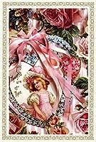 Rakka ヴィクトリアン エンジェル ポストカード同柄6枚セット ヴィンテージ キューピット カード オリジナルカード 天使 葉書 文房具 オフィス用品 封筒 はがき レター用品 ポストカード 絵柄付はがき Rakka RV06