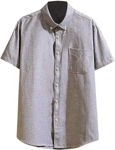 Casual Patchwork T-Shirt Sales Yvelands Hombres Botones de ...
