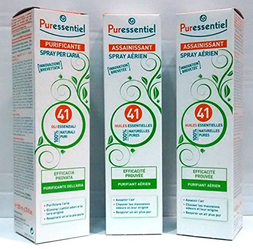 Puressentiel Spray purifiant pour l'air, 3 x 200 ml