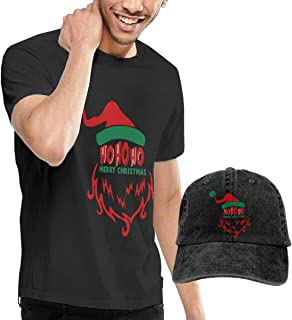 Camisetas y Tops Hombre Polos y Camisas, Santa Claus Face Fashion Men's T-Shirt and Hats Youth & Adult T-Shirts
