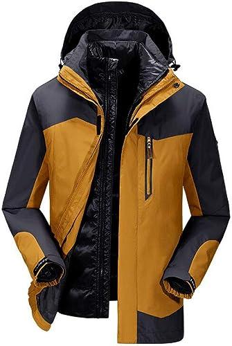Veste imperméable Coupe-Vent Alpinisme vêtements de Loisirs en Plein air Veste de Sport Doubleure détachable imperméable Coefficient 5000mm de Nouveaux Hommes