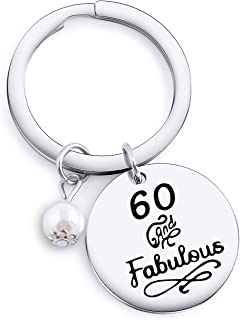 Happy Birthday Keychain Gifts 30th 40th 50th 60th 70th 80th 90th Perfect Anniversary Gift Idea for Her & Him