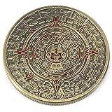 マヤ文明 古代文明 神秘 予言 太陽の石 アステカ カレンダー 記念コイン コレクション 風水 直径 40mm ブロンズ メッキ 青銅