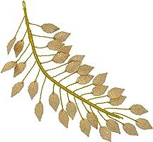 MagiDeal Fashion Gold Leaf Branch Dainty Bridal Hair Crown Headbands Wedding Jewelry Unique Design
