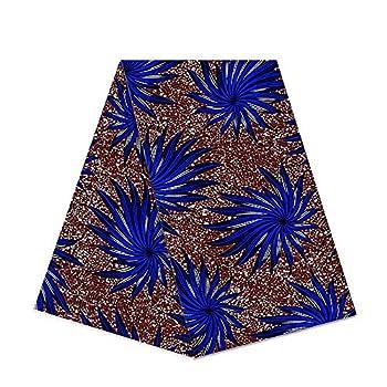 6 Yards African Wax Fabric 100% Cotton 2018 Ankara African Cotton Wax Prints Fabric Super Hollandais Wax 6 Yards African Fabric for Party Dress