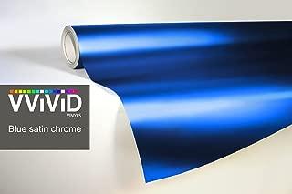 Blue Matte Chrome Car Wrap 2ft x 60 Inch Stretch Conform Cast Vinyl 3MIL-VViViD8