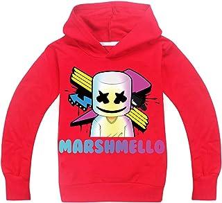 EMILYLE ボーイズ 男の子 子供 Marshmello DJ パーカー トレーナー アメリカ 欧米 キッズ かわいい 児童 スポーツウェア アクティブ 応援服 人気 Dotcom rap