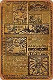 Zelda Story of The Hero Time Legend Mythology Timeline Carteles de chapa vintage Cartel de chapa Retro Letrero de metal Placa Arte Decoración de pared 8 × 12 Pulgadas