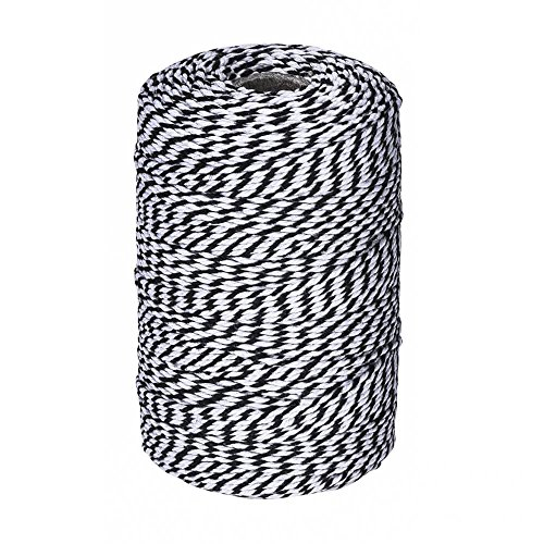 656 Feet Black and White Twine,Cotton Bakers Twine Cotton Cord Crafts Christmas Gift Twine String for Holiday
