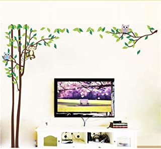 Monkey Owlet Animal Tree Wall Stickers Tv Sofa Background Living Room Home Decoration Wall Stickers PVC Decal Mural Art