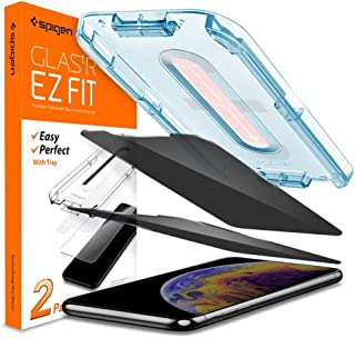 Spigen Tempered Glass Screen Protector Glas.tR EZ Fit Designed for iPhone 11 Pro/iPhone Xs/iPhone X 2Pack - Privacy