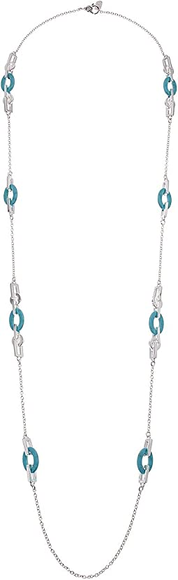 Turquoise Link Strand Necklace