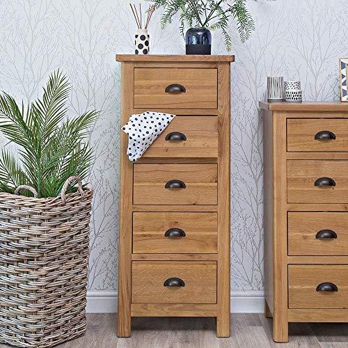 Gabinete de grano de roble, utilizado en la cocina sala de estar Dormitorio y corredor Cómoda de cajones de alto cajonera,Grainbox